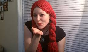 red wigs for halloween how to make a yarn wig youtube