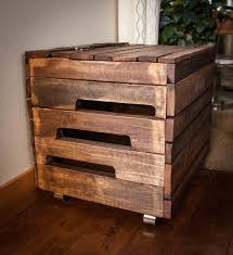 Plans For Wooden Toy Chest by Diy Pallet Wood Toy Box With Casters 101 Pallets