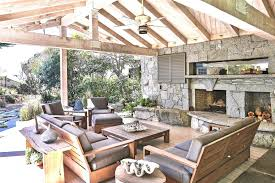 covered porch with outdoor fireplace home design ideas