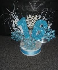 Centerpieces For Sweet 16 Parties by Winter Wonderland Centerpiece Or Cake Topper For Sweet 16 Sweet