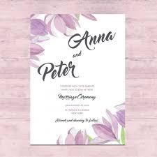 wedding card design template free download floral wedding card