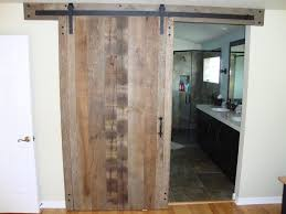 bathroom interior sliding barn door for bathroom with single