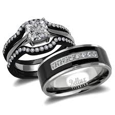 his and hers wedding rings wedding rings set his and hers titanium stainless