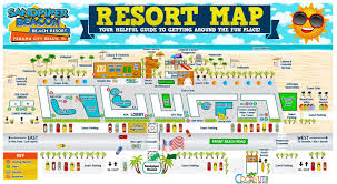Florida Map Of Beaches by Resort Map Of The Sandpiper Beacon Panama City Beach Florida