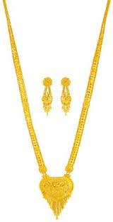 long necklace set images 22kt gold necklace set long ajns63294 22kt gold necklace and jpg