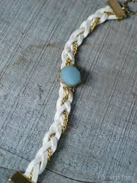 braided leather chain bracelet images Pretty leather and chain braided bracelet jpg