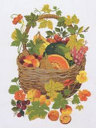 basket of fruit basket of fruit cross stitch kit by rosenstand