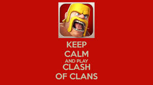 barbarian keep calm and play clash of clans hd wallpaper