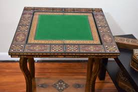 game table cards table poker table chess table marquetry wood
