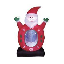 Outdoor Christmas Decorations Snow Globe by Inflatable Airblown Santa Claus Snow Globe Outdoor Christmas Yard