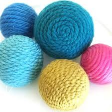 my sparkle yarn ornaments