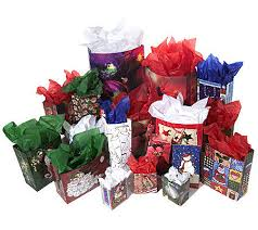 75 gift and treat bag set w tags tissue paper qvc