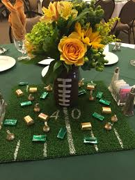 football centerpieces edison football banquet jar football with turf centerpieces
