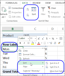 how to sort a pivot table sort items in excel pivot table report filter excel pivot