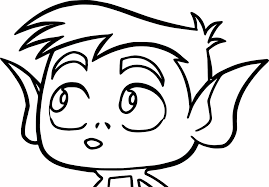 pie bros teen titans go robin beast boy coloring page wecoloringpage