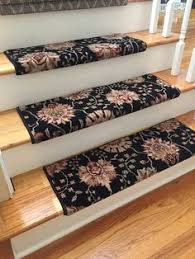 Stair Tread Covers Carpet Almond Bisque True Bullnose Carpet Stair Tread Cover With Stair