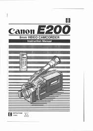 canon camcorder e 200 user guide manualsonline com