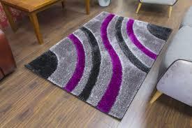 supreme shaggy rug grey purple 1583