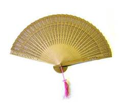 japanese fan folding sandalwood fans for weddings and decoration