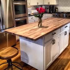 diy movable butcher block kitchen island food cart simplified