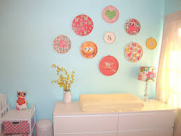 Nursery Wall Decorations Removable Stickers Baby Nursery Decor Embroidery Hoop Baby Nursery Wall Decor