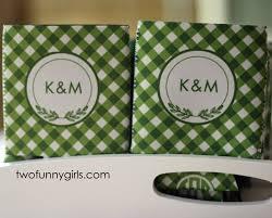 personalized koozies for wedding bulk print qty 25 custom personalized koozies gingham