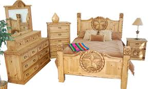 rustic king bed with texas star rope bedroom set 02 1 10 09 66 4 pc rustic king size bedroom set with texas star rope