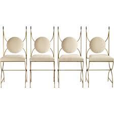 chaise dorée set de 4 chaises en fonte dorée robert thibier 1960 design market