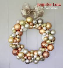 make your own diy wreath and garland out of ornaments tree classics