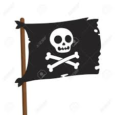 Picture Of A Pirate Flag Black Pirate Flag Illustration Jolly Roger With Cartoon Skull
