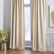 Gold Velvet Curtains West Elm Gold Velvet Metallic Trellis Curtains In Crown Heights