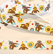monkey ribbon birthday sock monkey ribbon dots ribbon clearance