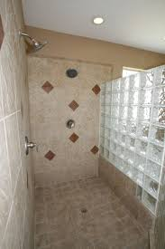 16 best walkin showers images on pinterest bathroom ideas astounding white wet walk in shower ideas with fascinating glass block divider room design also cool white square ceramic wall tile in small guys bathroom