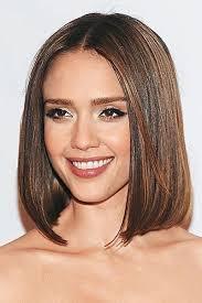 medium all one length hairstyles