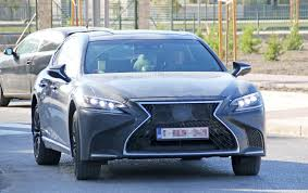 new lexus muscle car spyshots 2019 lexus ls f spotted could pack twin turbo v8