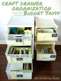 craft drawer organization for the budget savvy she lauren or