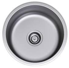 clark stainless steel 435mm single bowl flushline sink harvey