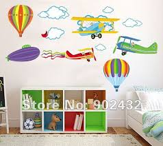 Aliexpresscom  Buy Airplane Hot Air Balloons Wall Stickers Home - Stickers for kids room