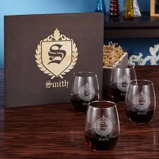 wine glass gift stemless wine glass gift box set