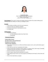 Resume Template First Job Examples Of Resumes 87 Inspiring The Best Resume Writing Book