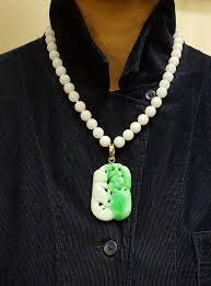 bead necklace with pendant images Gump 39 s jadeite beaded necklace with pendant nyshowplace jpg