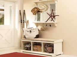 excellent white furniture accents on entryway featuring bench with