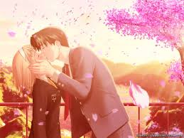 wallpaper anime lovers romance anime love couple kissing images hd
