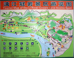 Underground River Map Tourist Map Of Crown Cave Guilin China Travel Guide Guilin Holiday