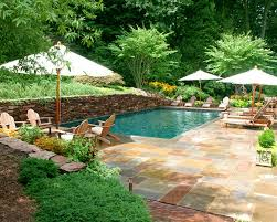 Small Pool Designs For Small Yards by Stunning Backyard Swimming Pools With Nice 4 Umbrella And Sunbed