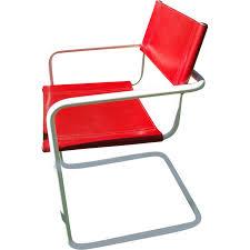 fauteuils rouges ensemble de 4 fauteuils rouges en cuir 1980 design market