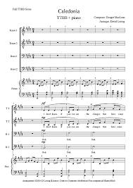 caledonia ttbb sheet cantorion free sheet free