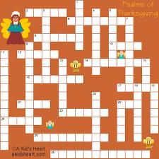 psalms of thanksgiving crossword puzzle print
