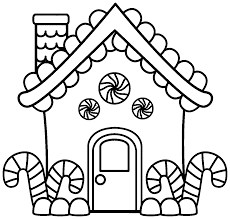 gigerbread house coloring page coloring home
