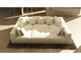 Sofa Casa Leather Casa 206 Modern White Leather Sectional Sofa